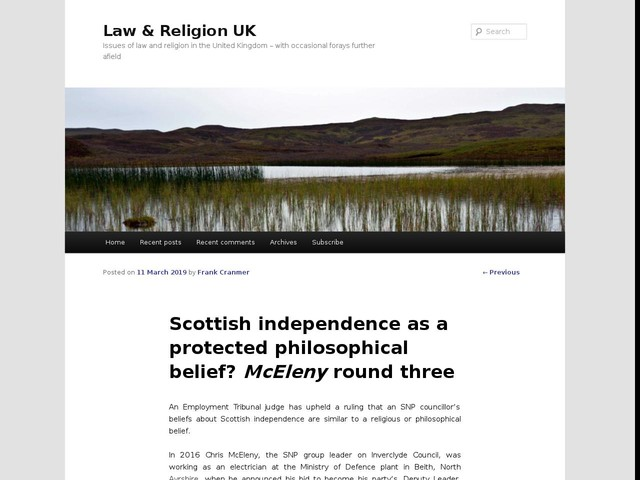 Scottish independence as a protected philosophical belief? McEleny round three