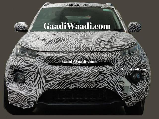 Tata Nexon facelift spied