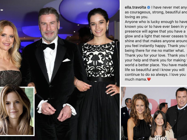 Kelly Preston and John Travolta's daughter Ella, 20, calls mom 'courageous' and 'strong' after her tragic cancer death