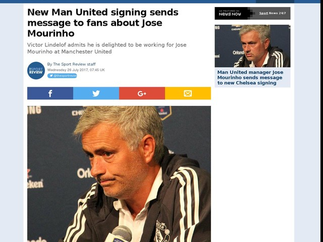 New Man United signing sends message to fans about Jose Mourinho