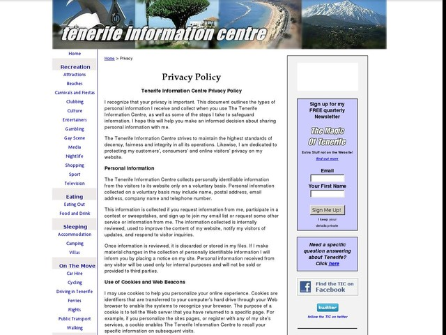 May 23, Privacy Policy Update