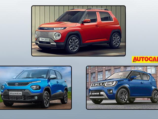 Hyundai Casper vs Tata Punch vs Maruti Suzuki Ignis: specifications comparison