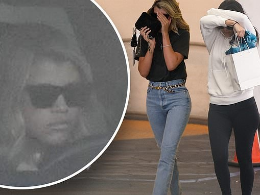 Sofia Richie and Kourtney Kardashian try and keep a low profile after Beverly Hills spa day together
