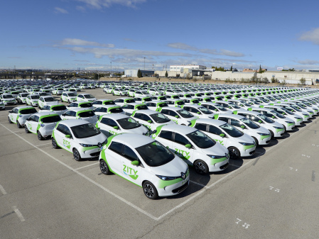 ZITY car sharing launches in Madrid with 500 Renault ZOE EVs arriving this month