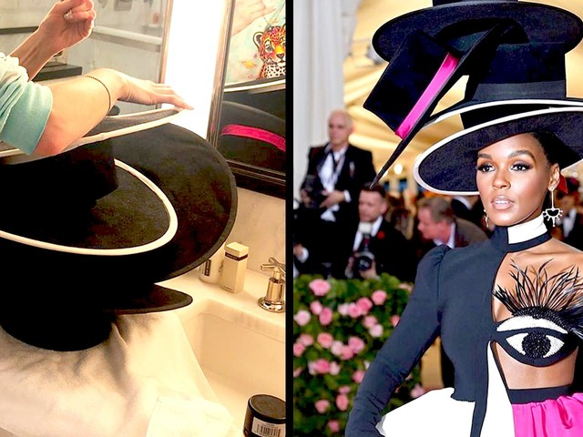 How Janelle Monáe's Met Gala hat came to life