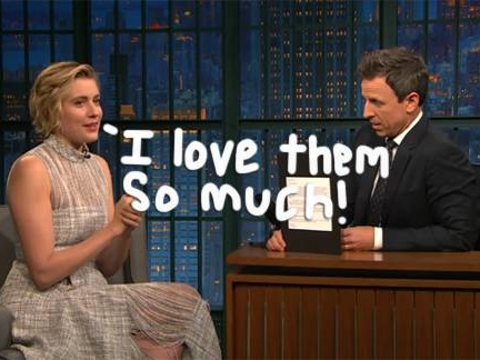 Greta Gerwig's Letters To Alanis Morissette, Dave Matthews, & Justin Timberlake Prove She's The Ultimate Fangirl!