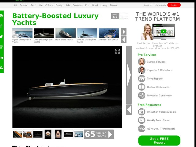 Battery-Boosted Luxury Yachts - This Electric Luxury Yacht is Powered By BMW Batteries (TrendHunter.com)