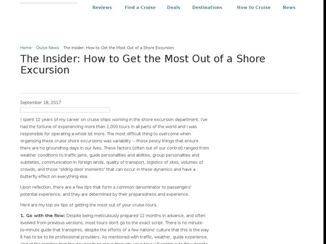 The Insider: How to Get the Most Out of a Shore Excursion