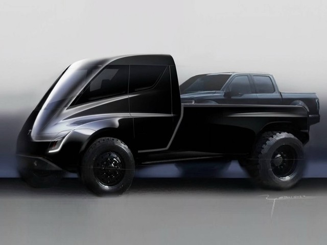 Tesla Pickup Truck teased during Semi and Roadster debut