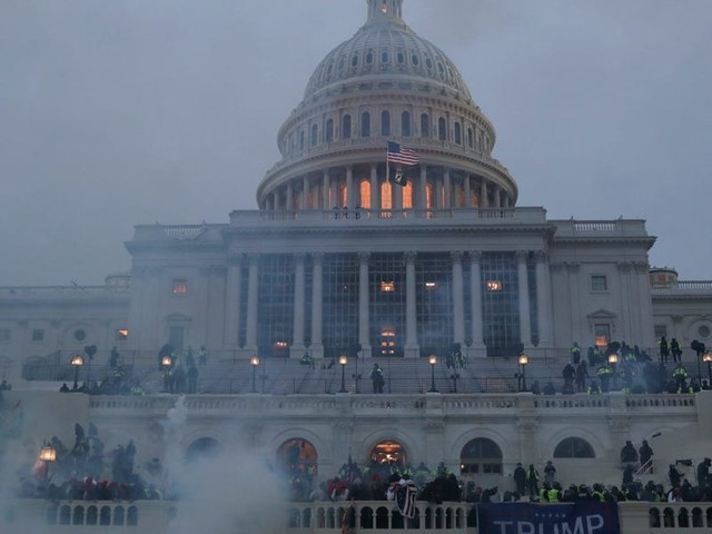 Photos show the aftermath of an unprecedented and destructive siege on the US Capitol Building that left one rioter dead