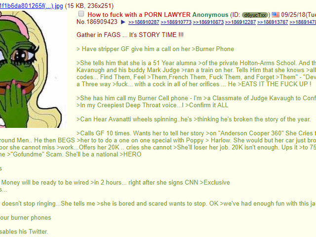 Avenatti locked his Twitter. 4chan may have pulled off the Op of the year.