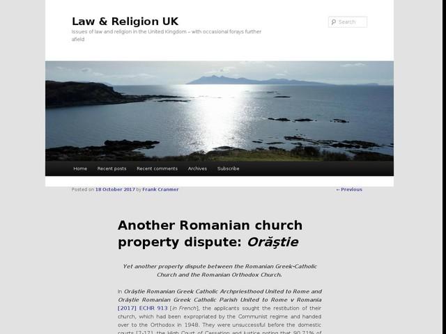 Another Romanian church property dispute: Orăştie
