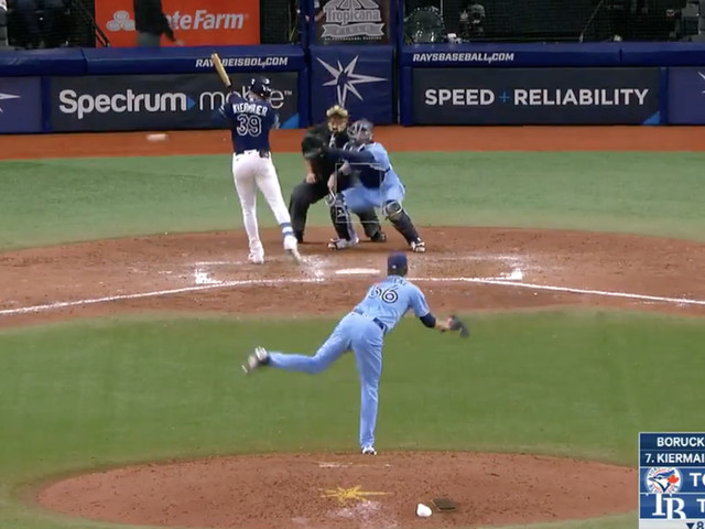 A Rays player 'stole' the Blue Jays' scouting report card, and got beaned for it