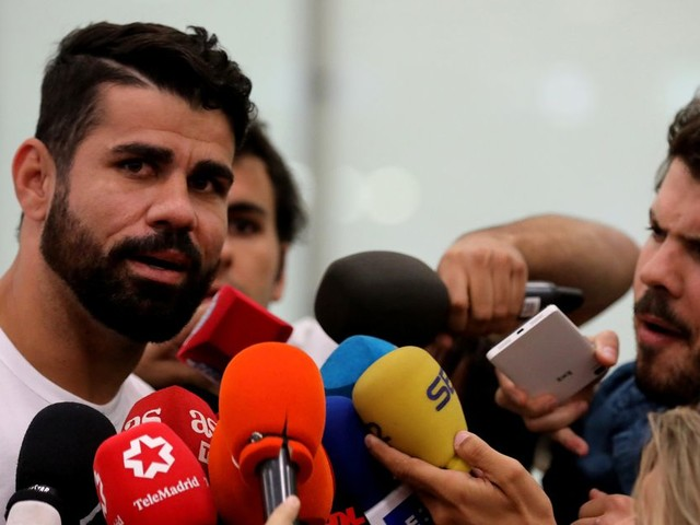 Diego Costa arrives in Madrid to complete transfer from Chelsea back to Atletico