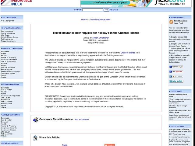 Travel Insurance Uk Resident Travelling From Dublin