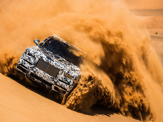 VIDEO: Rolls-Royce Cullinan Test-Mule Goes Dune Bashing In UAE