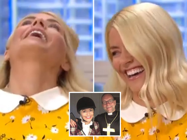 Holly Willoughby reveals embarrassing moment she fell a through chair during video chat with Phillip Schofield's family