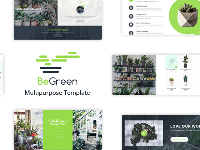 BeGreen - Multi-Purpose Template for Planter - Landscaping- Gardening (Corporate)