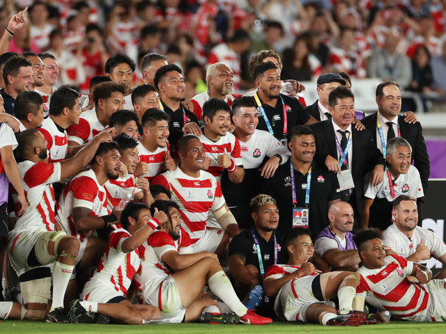 Rugby World Cup: Japan make history as quarter-finals take shape