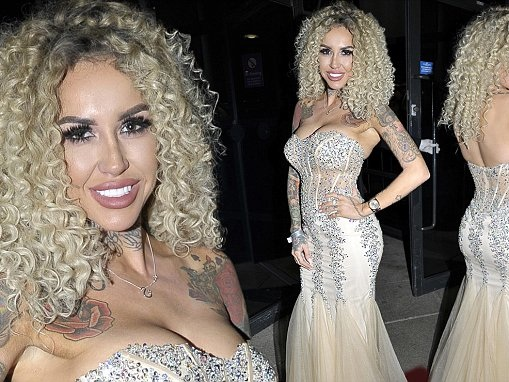 Sallie Axl displays buxom bust at Charity Ball in Liverpool