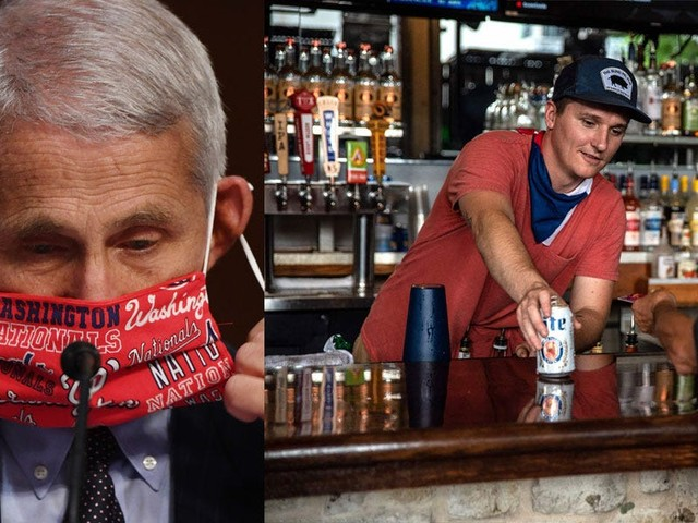 Dr. Fauci says drinking inside bars is one of the most dangerous things you can do right now