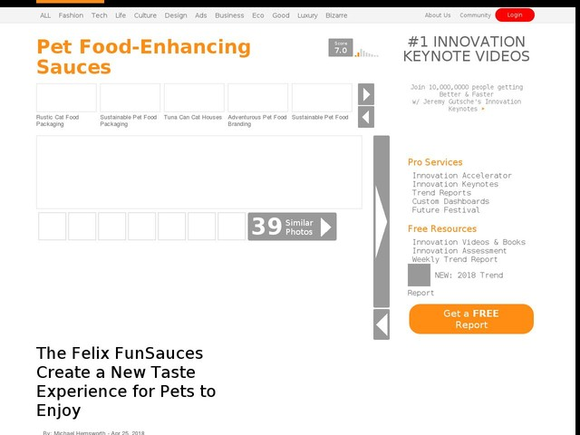 Pet Food-Enhancing Sauces - The Felix FunSauces Create a New Taste Experience for Pets to Enjoy (TrendHunter.com)