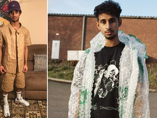 Student creates a shirt and shorts made from swathes of BROWN PAPER
