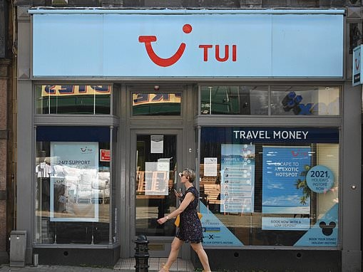 TUI announces a £1.3billion loss after coronavirus shut down global travel