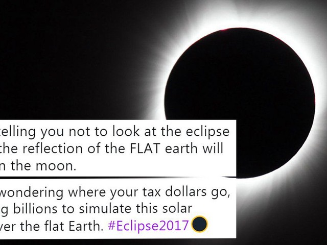 Flat-earthers are struggling to explain the eclipse, and it's brilliant