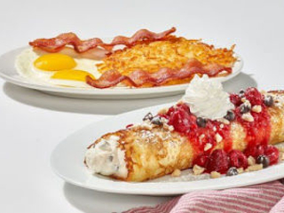 Rolled Cannoli-Style Crepes - IHOP is Offering Raspberry Cannoli Crepes for a Limited Time (TrendHunter.com)