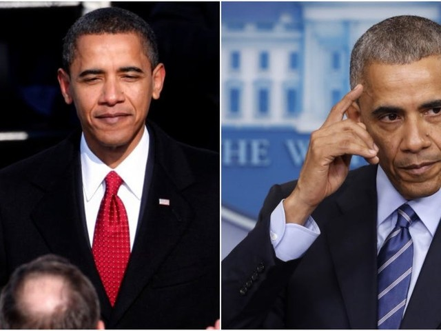 Before-and-after photos show how dramatically presidents aged in office
