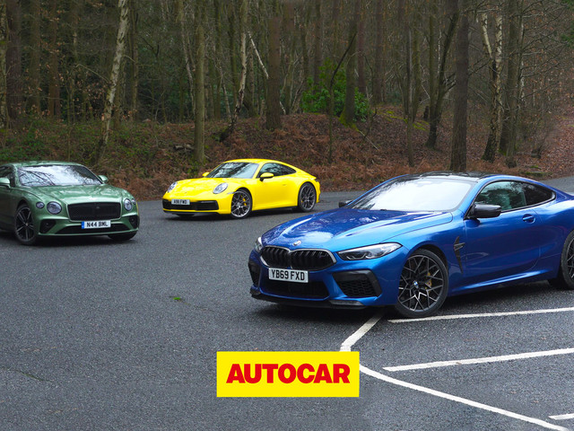 Video: GT shoot-out - BMW M8 Competition v Bentley Continental GT v Porsche 911