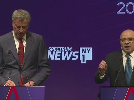 De Blasio, Albanese Spar Over Mass Transit, Homelessness, Other Issues