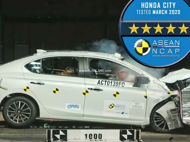 2020 Honda City New Gen Scores 5 Star Safety in ASEAN NCAP