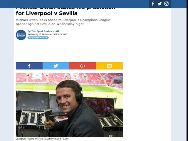 Michael Owen states his prediction for Liverpool v Sevilla