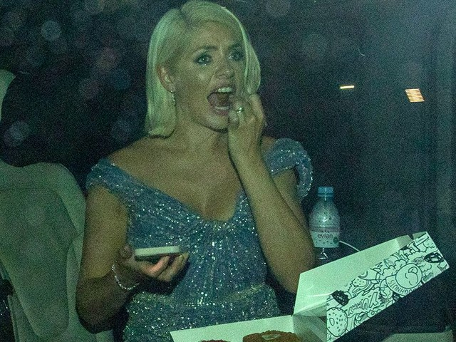Holly Willoughby scoffs doughnuts and gin as Phil was still boozing at 2am after NTAs