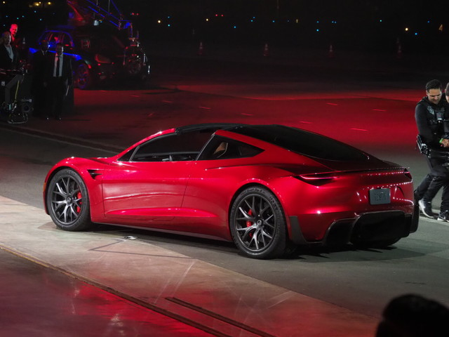 Tesla unveils the new Roadster