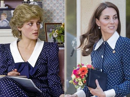 Kate Middleton's dress looks like one worn by Diana