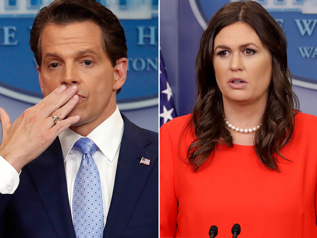 Anthony Scaramucci to Sarah Sanders: 'I'd like to continue to use the hair and makeup person'