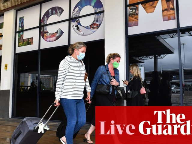 UK coronavirus live: people should book holidays but 'be aware quarantine could be imposed', says minister