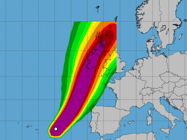 The powerful Hurricane Ophelia is about to hit Ireland