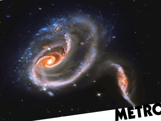 Nasa spots mysterious 'battling galaxies' locked in 'wild and violent' conflict