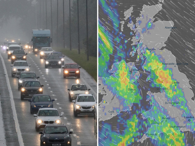 UK weather forecast – Met Office warns heavy rain will drench Britain as summer ends sparking flash flood and thunder