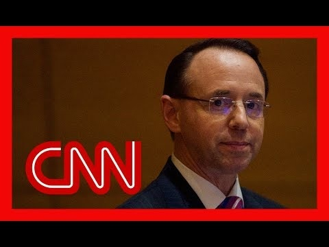 Rod Rosenstein Submits Resignation Letter To Trump