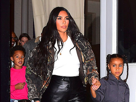Kim Kardashian Shares Sweet Photo Of North & Chicago Looking Like Twins In Matching Outfits