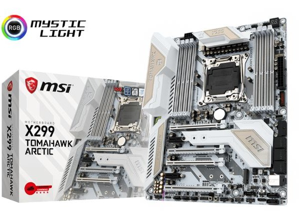 The MSI X299 Tomahawk Arctic Motherboard Review: White as Snow