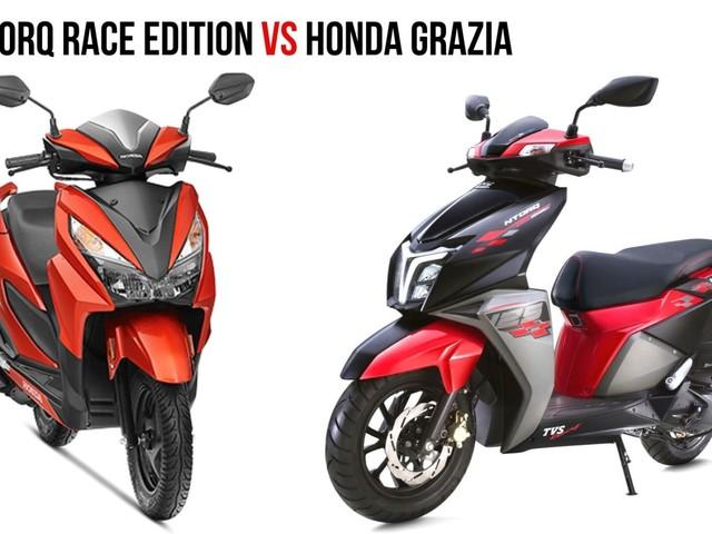 TVS Ntorq Race Edition VS Honda Grazia: Spec Comparison