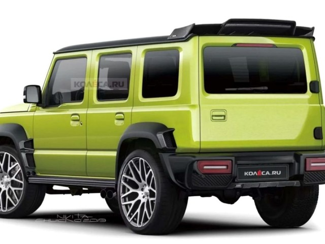 India-Bound Suzuki Jimny Rendered Without Spare Wheel On Boot