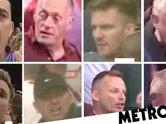 Police hunt eight men after Aston Villa fans attack police and stewards