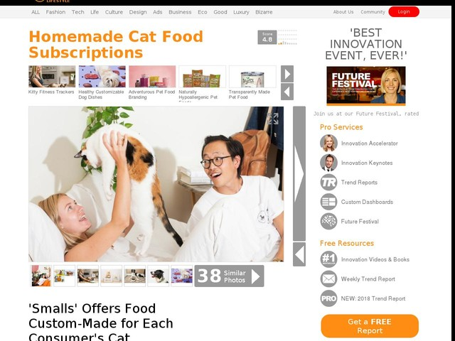 Homemade Cat Food Subscriptions - 'Smalls' Offers Food Custom-Made for Each Consumer's Cat (TrendHunter.com)